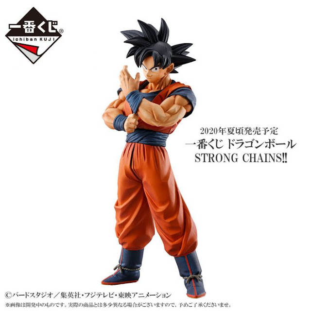 Ichiban Kuji Strong Chains!! de Dragon Ball Z, con Son Goku, Vegeta y Krilin.