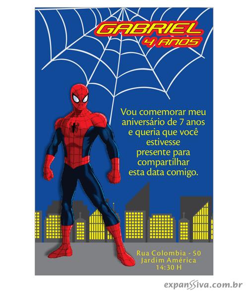 convites aniversario homem aranha 02 - Convites de Aniversário do Homem Aranha