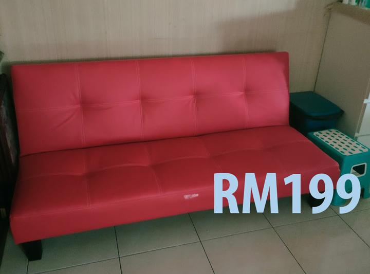 Sofa Bed Cantik Beli Online di Shopee, Cuma Rm199