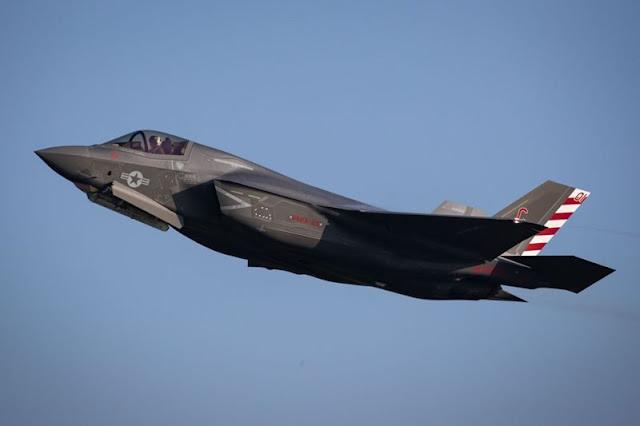 Lightning jets take off from RAF Marham to join HMS Queen Elizabeth