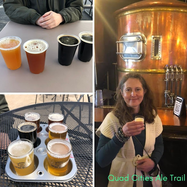 Sampling local microbrews along the Quad Cities Ale Trail!
