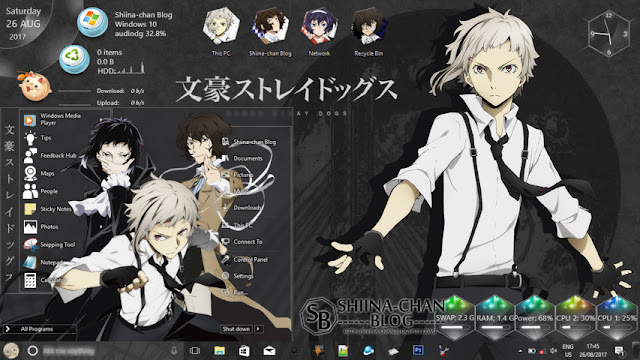 Windows 10 Ver. 1803 Theme Bungou Stray Dogs by Enji Riz