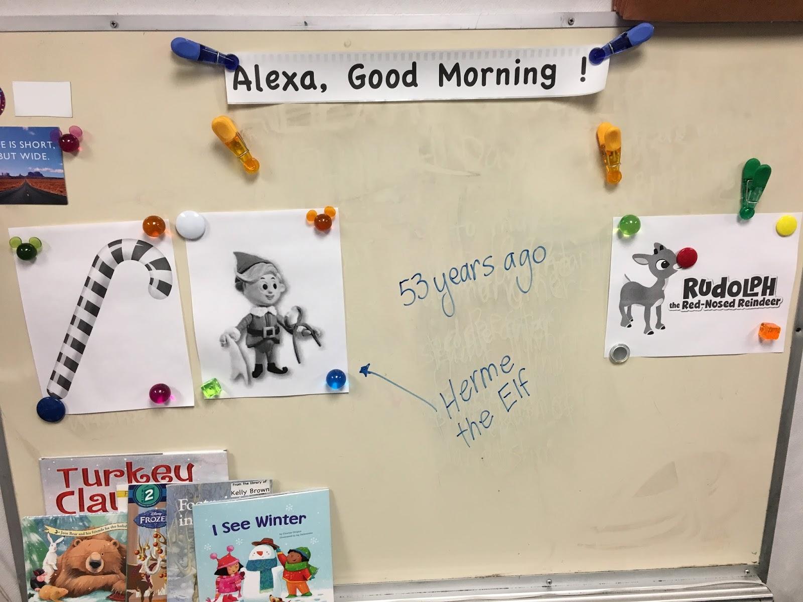 December 6 Alexa Good Morning Rudolph The Red Nosed