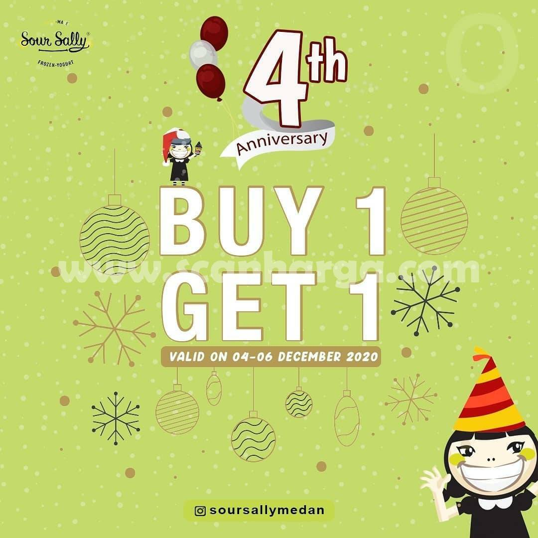 Sour Sally Medan 4th Anniversary Promo Beli 1 Gratis 1