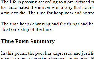 Summary And Theme Of Poem Times Zahid Notes Pegasus depend upon it, knows his time. summary and theme of poem times zahid