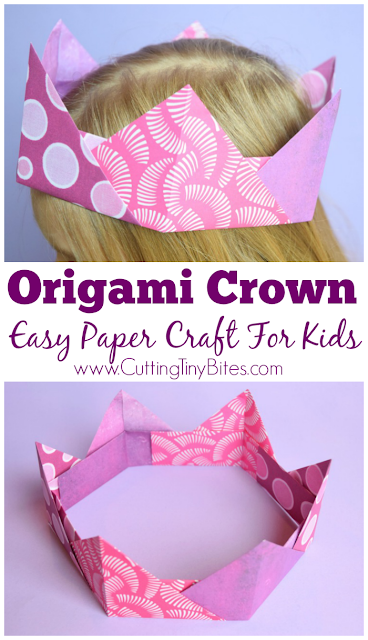 Origami Crowns Easy Paper Craft For Kids What Can We Do With Paper And Glue
