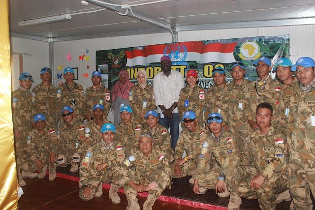 Prajurit TNI Satgas Indobatt-03 Ikuti Penyuluhan HIV / AIDS di Sudan