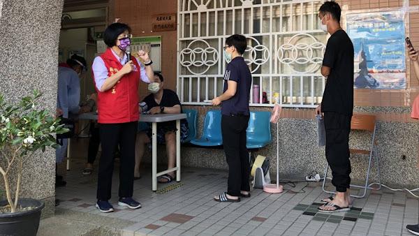 彰化縣公費疫苗第七輪AZ疫苗開打 王惠美視察關心接種站