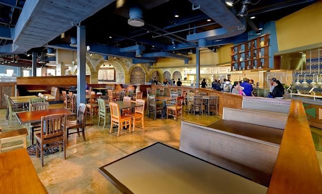 Interior do Restaurante Spice Mill no Seaworld em Orlando