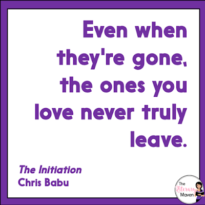 In The Initiation by Chris Babu, Drayden enters the Initiation, a grueling set of trials that require both intelligence and strength, and if successfully completed, will guarantee a better life for him and his family. Drayden is joined by his crush, his best friend, his worst enemy, and two of his other classmates, and the six must work together as their brains and brawn are tested. Read on for more of my review and ideas for classroom application.