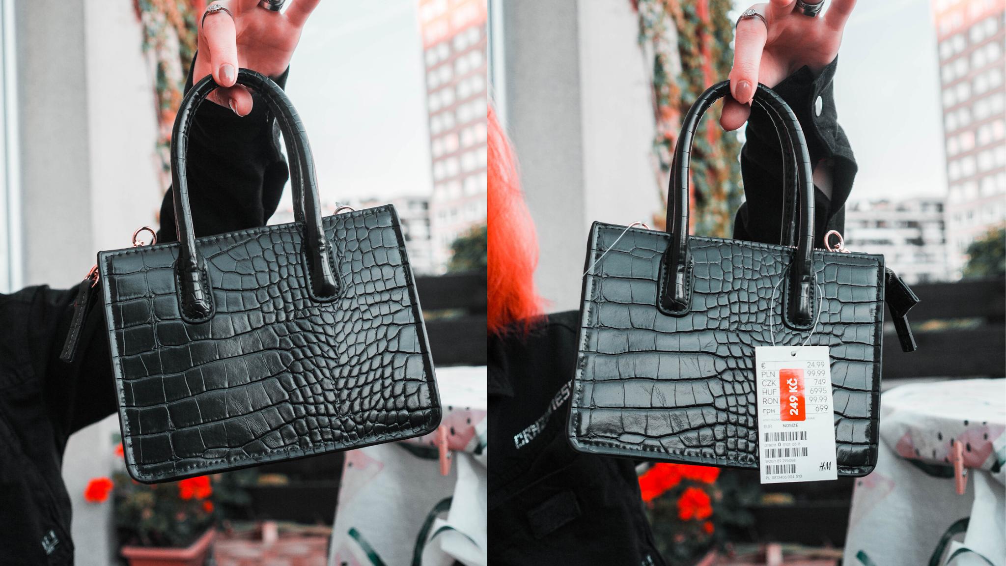 Černá mini kabelka z HM