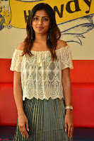 Eesha in a cute deep neck top and Skirt at at Big FM 076.JPG