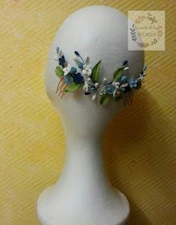 peineta artesanal de porcelana en varios colores para invitada perfecta