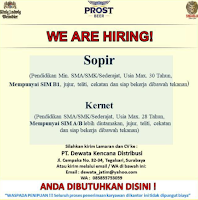 We Are Hiring at PT. Dewata Kencana Distribusi Surabaya Januari 2021