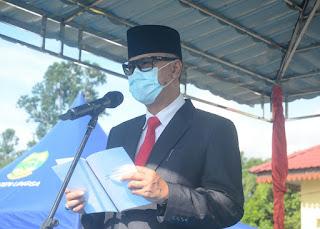 Pjs Bupati lingga Optimis bahwa lndonesia mampu bertahan dan bangkit bersama dengan semangat Pancasila yang terus dijaga