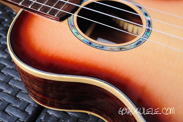 Noah Classic Sunburst Tenor Ukulele decor