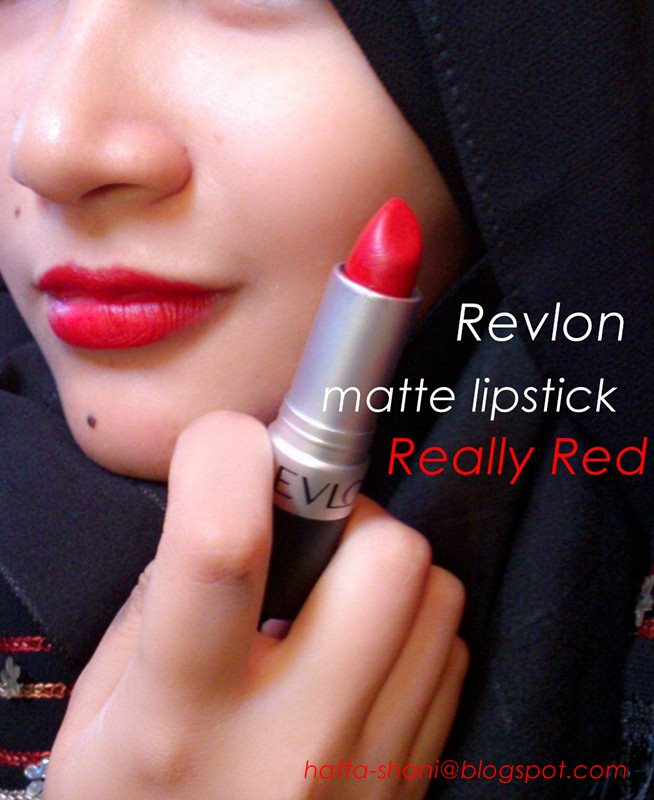 Review Revlon matte lipstick Really Red – Anne