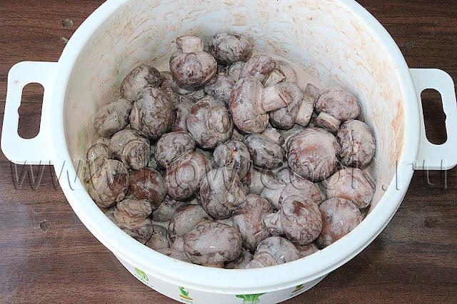 рецепт шампиньонов в розовом соусе на углях с пошаговыми фото