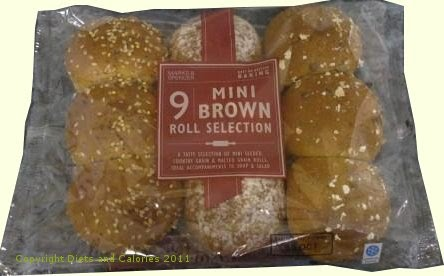 Diets And Calories Mini Brown Roll Selection Marks