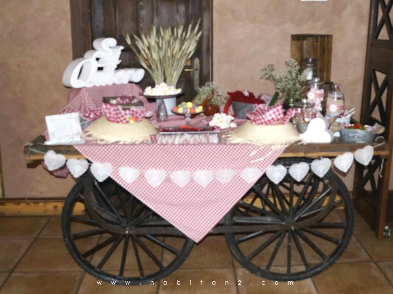 La boda de A&H diseño de Habitan2 eventos | Eventos personalizados y únicos con toque handmade | Decoración handmade para hogar y eventos | Mesa dulce para boda de estilo rústico-vintage