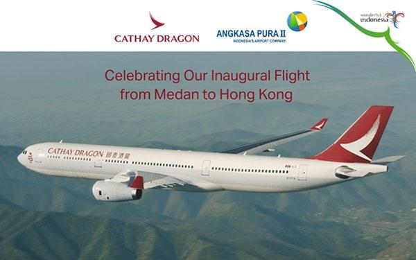 Cathay Dragon Terbang Perdana Hongkong-Kualanamu Mulai Hari Ini