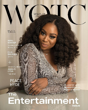 Peace Hyde stun on the cover of UK's WOTC Magazine's October Issue