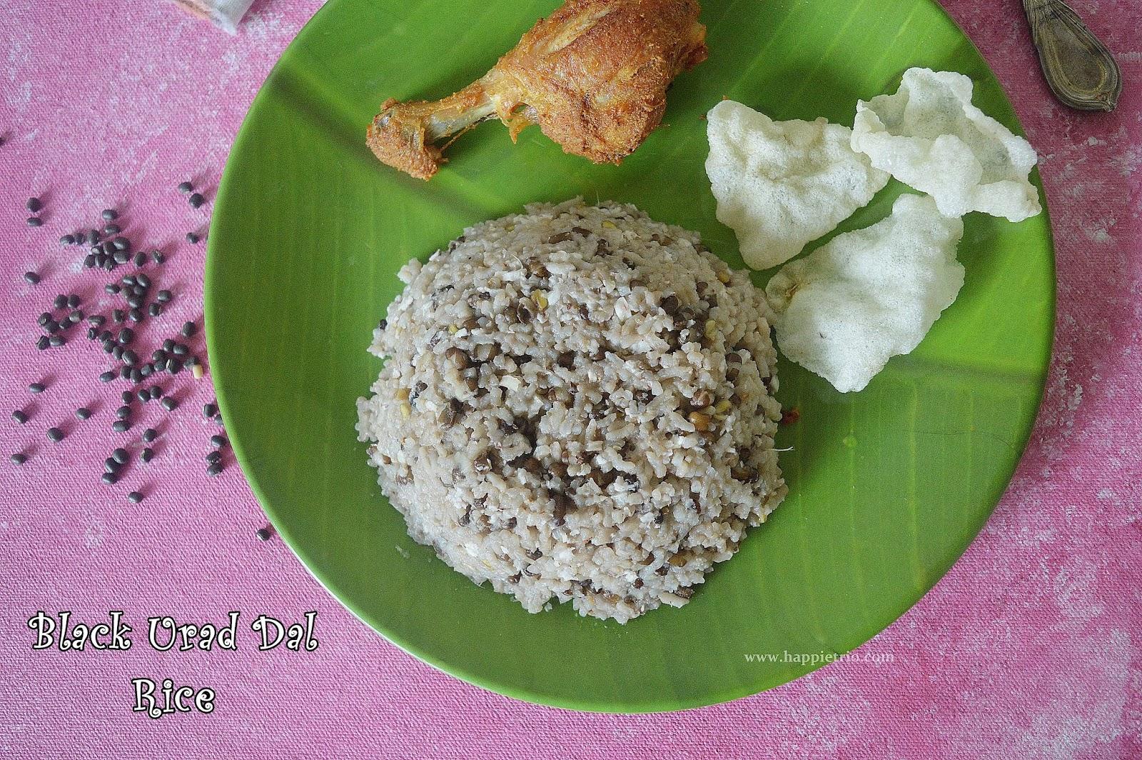Ulundhu Choru Recipe | Black Urad Dal Rice | Ulundhu Sadham