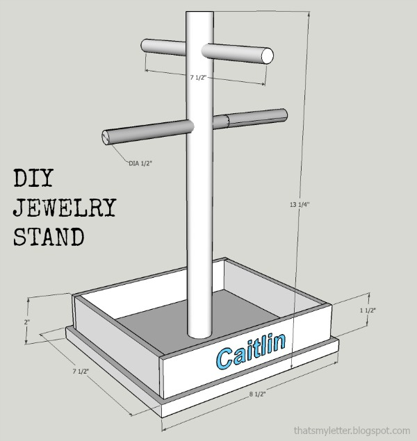 diy jewelry stand free plans