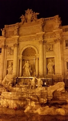 Trevi Fountain under construction