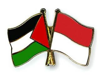 Bendera Indonesia dan Palestina