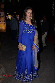 Telugu Actress Tejaswi Madivada Pos in Blue Long Dress at Nanna Nenu Na Boyfriends Audio Launch  0104.JPG