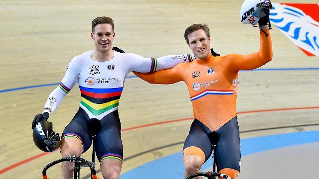 Harrie Lavreysen Jeffrey Hoogland Países Baixos ciclismo