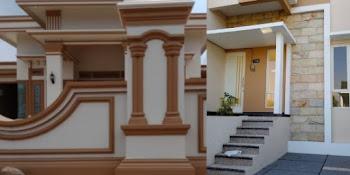 Lingkar Warna 15 Rumah Minimalis Sederhana Di Kampung