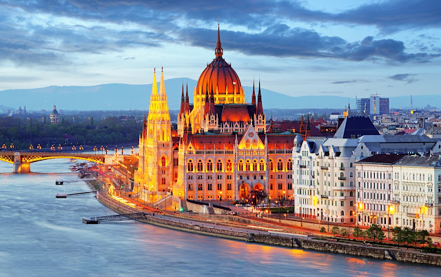 Будапешт, Венгрия парламента ночью