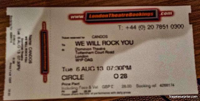 We Will Rock You, espetáculo com músicas do Queen em Londres