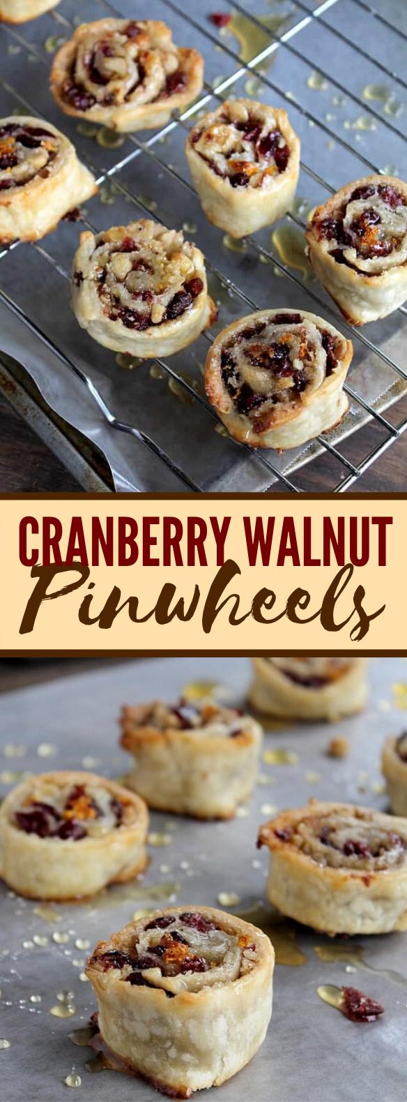 Cranberry and Walnut Pinwheels #desserts #holidayrecipes