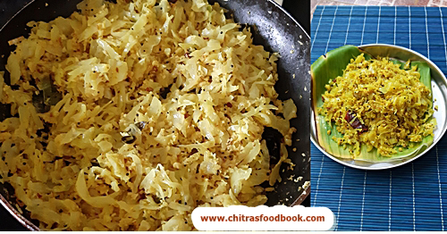 cabbage thoran recipe