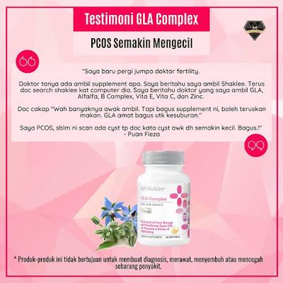 Testimoni GLA Complex Shaklee Untuk PCOS (2)