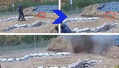 kadet salah melempar granat