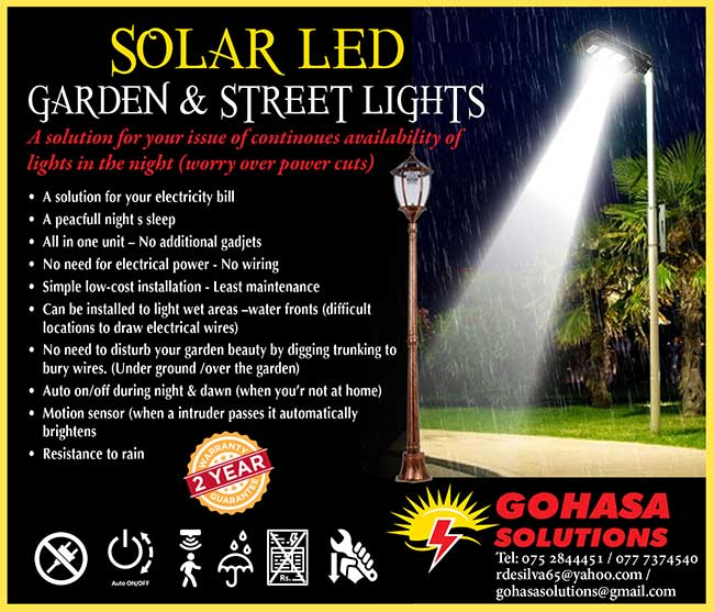 Solar LED Garden & Street Lights.