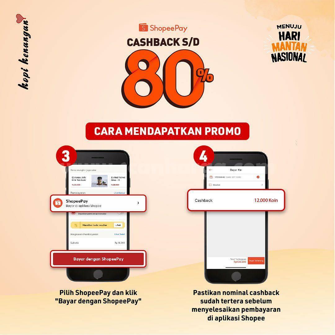 Kopi Kenangan Promo Cashback 80% transaksi pakai Shopeepay 4