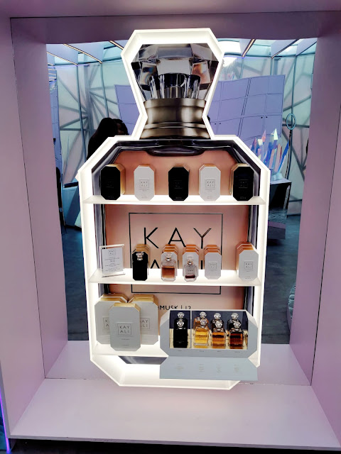 MONA KATTANS KAYALI PERFUME STAND AT THE HUDA BEAUTY POP UP EVENT IN LONDON