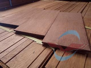 Lantai kayu parket untuk keperluan di Batam