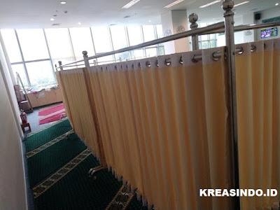 Harga atau Jual Hijab Masjid Stainless atau Pembatas Sholat atau Partisi Masjid Terbaru