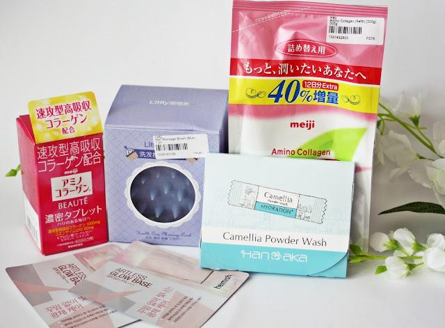 Yesstyle, Yesstyle haul, Yesstyle Order, Yesstyle shopping, Meiji, Tony Moly, Kao, Hot Mask, Gua Sha, wood comb, tsuge comb