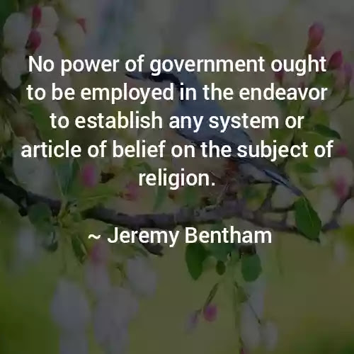 Jeremy Bentham government Quotes