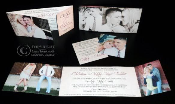Graphic Design Wedding Invitations: Kara's Koncepts Graphic Design