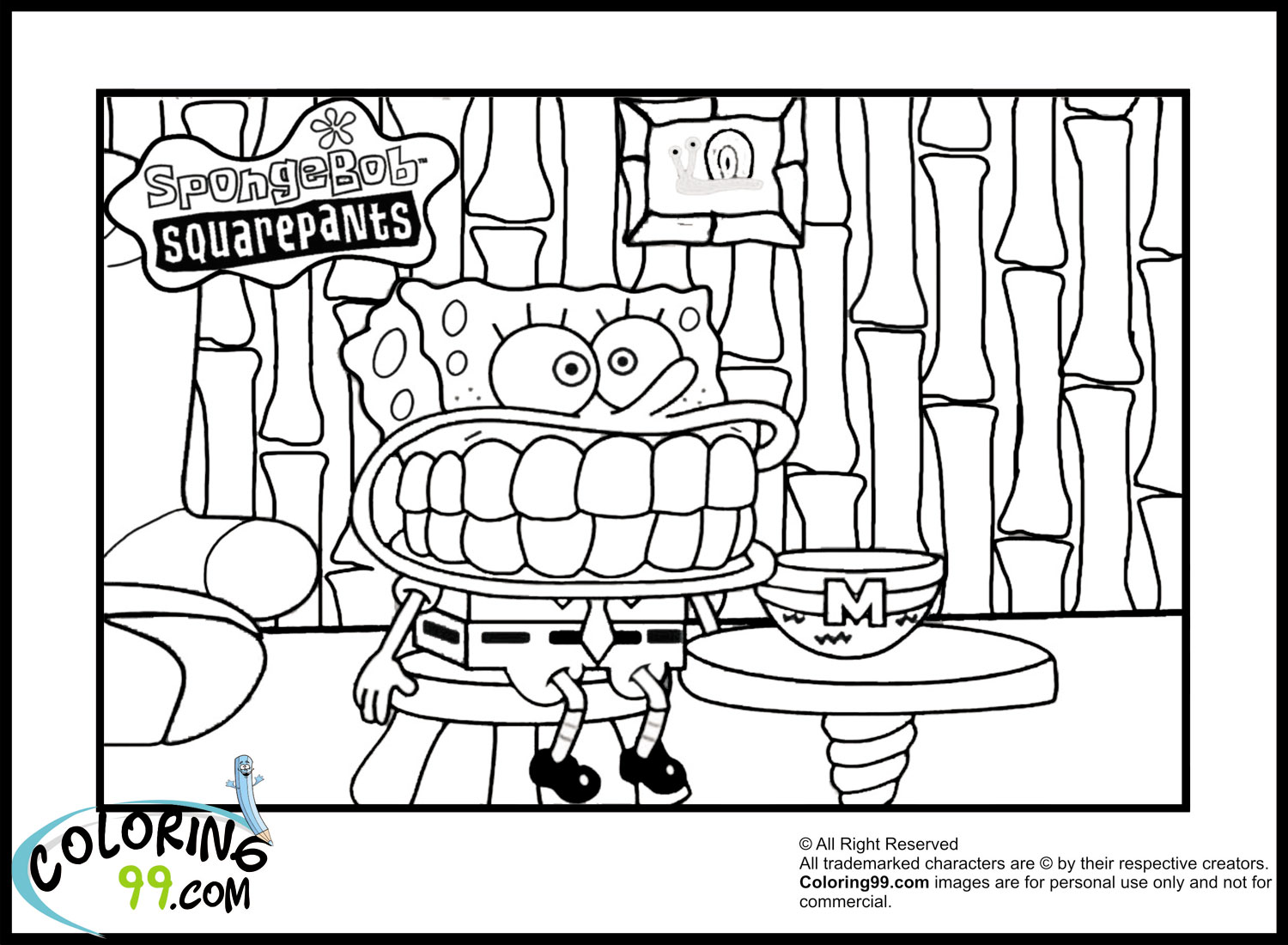 Spongebob Coloring Pages Minister