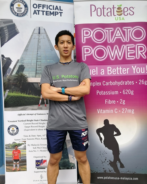 Soh Ching Wai Guinness World Records, Greatest Vertical Height Stair Climbing in One Hour (Male), Soh Wai Ching, U.S Potatoes, Food, Fitness