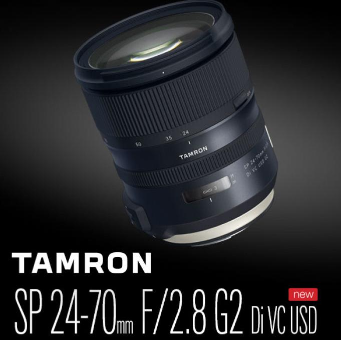 Рекламное изображение объектива Tamron SP 24-70mm f/2.8 Di VC USD G2